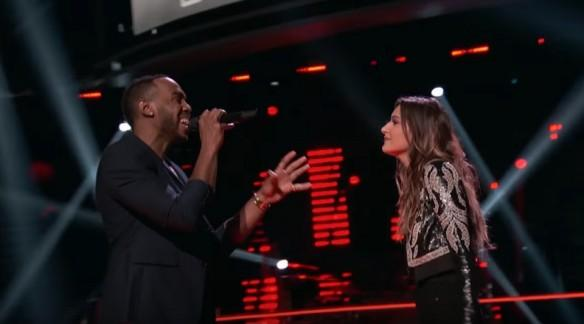 Brandon Royal and Davina Leone perform on The Voice USA 2017
