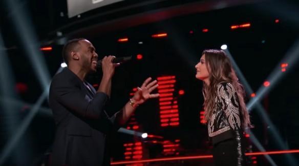 Brandon Royal and Davina Leone perform on The Voice USA 2017