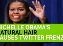 Michelle Obamas natural hair causes Twitter frenzy