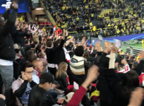 Monaco fans chant Dortmund in support of German side following bus explosions