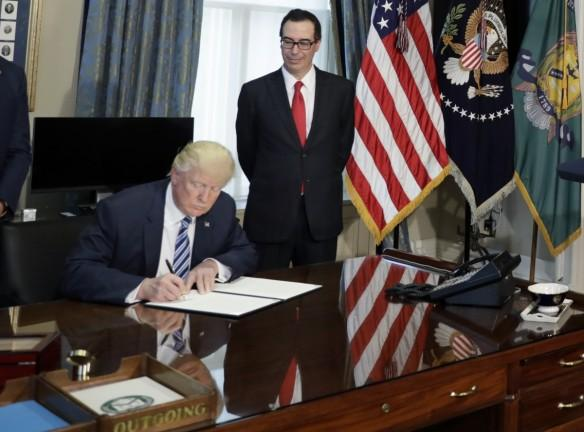 us president donald trump, executive order for taxes, trump tax plan, us treasury secretary Steven Mnuchin