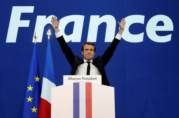 indian stock markets, french presidential elections, macron takes lead in first round, french face-off on may 7