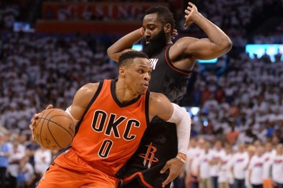 Russell Westbrook, James Harden.