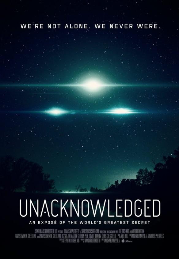 UNACKNOWLEDGED, movie, UFO, aliens conspiracy theorists, weird news,
