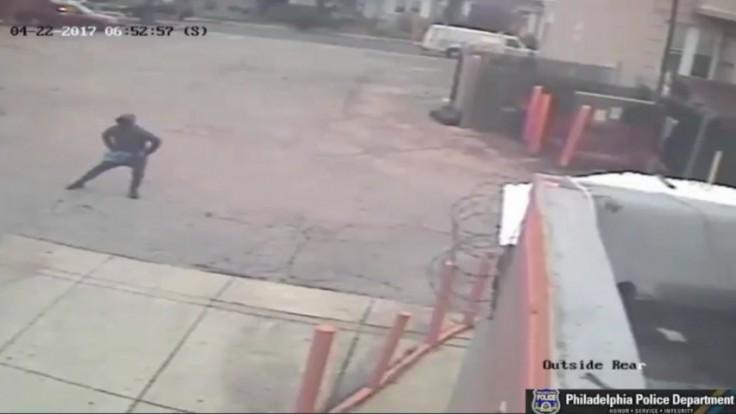 Suspect caught on camera doing stretches before robbing Philadelphia Dunkin Donuts