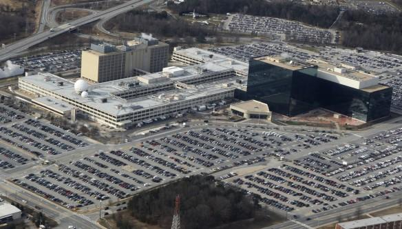 An aerial view of the National Security Agency (NSA) headquarters in Ft. Meade, Maryland, U.S.