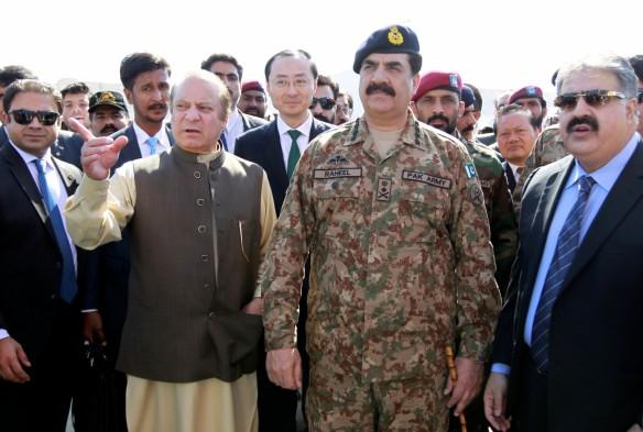 Pakistan's Prime Minister Nawaz Sharif and Army Chief of Staff General Raheel Sharif