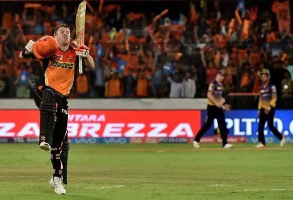 David Warner, Warner  century, IPL 2017, SRH, KKR