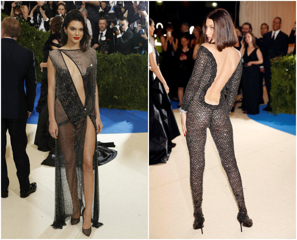 Kendall Jenner Risks Wardrobe Malfunction While Bella