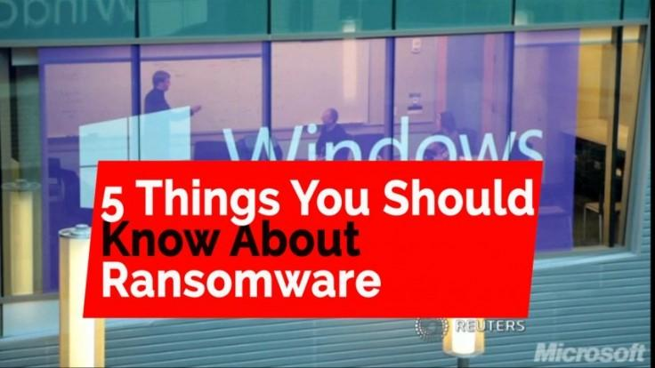 Five things you should know about Ransomware
