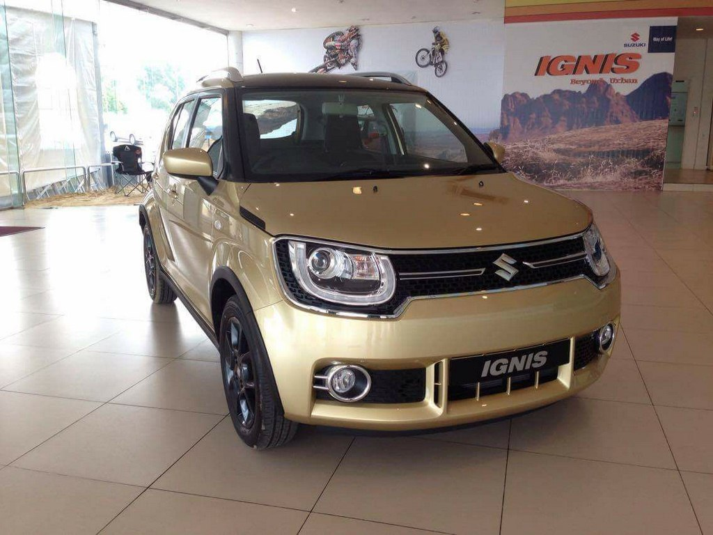 Maruti Suzuki Ignis Spotted In Golden Shade