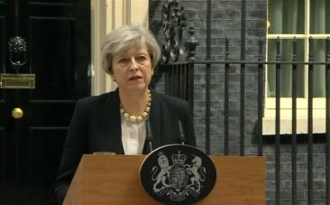 UK Prime Minister Theresa May condemns callous terrorist attack in Manchester