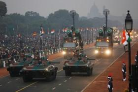 Indian Army's Infantry Combat Vehicles are displayed during the Republic Day parade in New Delhi, India January 26, 2017.