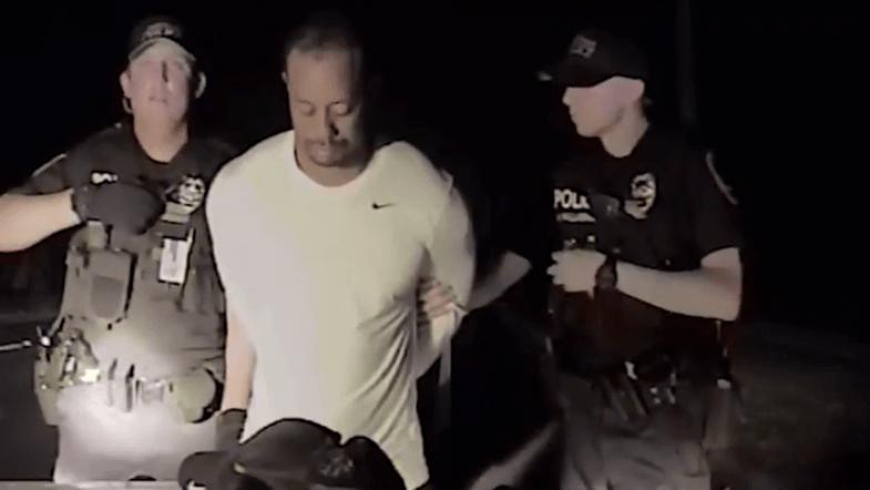 Police dashcam footage of Tiger Woods arrest in Florida