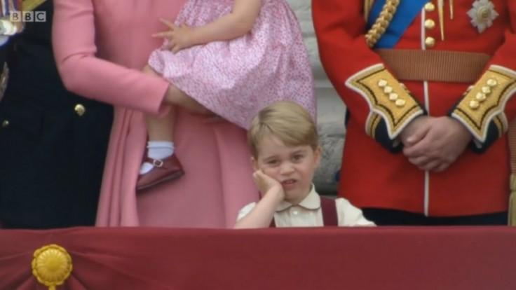 Prince George looks royally unamused at the Queens birthday celebrations