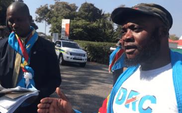 South African President Zuma hosting illegitimate DRC President Kabila say protesters
