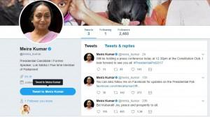 Meira Kumar Twitter Handle