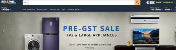Amazon, Pre-GST, sale, India, top deals, Smart LED TVs, Samsung, LG, Sony, Noble, Lloyd
