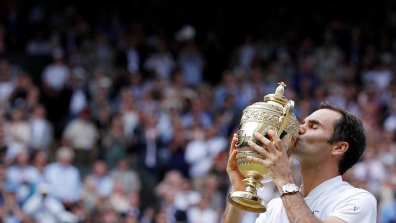 Roger Federer wins record eighth Wimbledon title