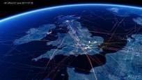 Incredible air traffic video reveals UKs busy skies