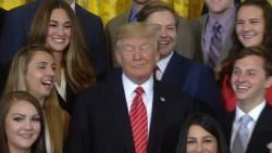 Donald Trump rolls his eyes, shushes reporter at White House