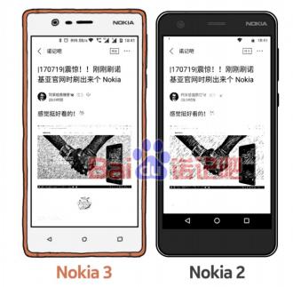 Nokia 2 and Nokia 3