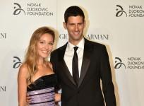 Novak Djokovic with wife Jelena