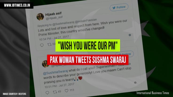 Pak Woman Tweets Sushma Swaraj