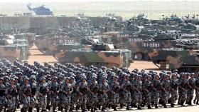 Soldiers of China's People's Liberation Army (PLA) take part in a military parade to commemorate the 90th anniversary of the foundation of the army at the Zhurihe military training base in Inner Mongolia Autonomous Region, China, July 30, 2017.