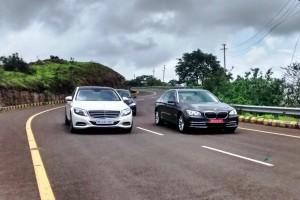 Luxury cars, premium cars, Mercedes-Benz S-Class, BMW 7 Series