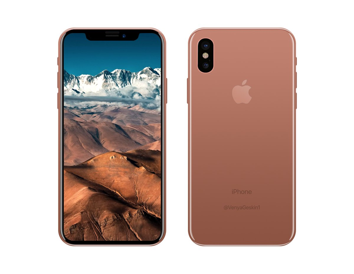 iphone 8 copper gold leaks in renders and dummy unit