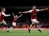 Aaron Ramsey, Olivier Giroud, Arsenal, Leicester City, EPL