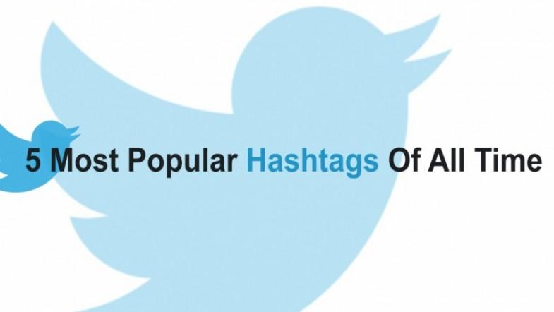 5 most popular hashtags of all time
