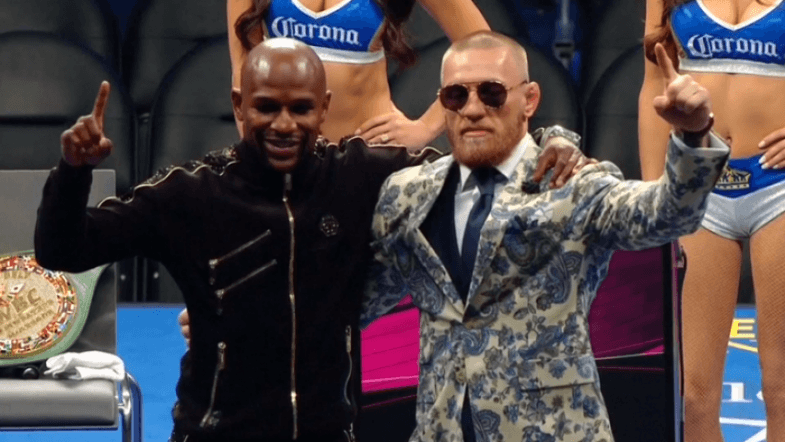 Mayweather and McGregor react to boxers victory