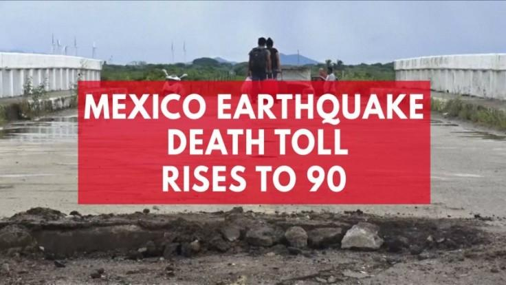 Mexico earthquake death toll rises to 90 as devastation revealed