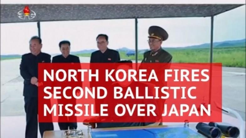 North Korea fires second ballistic missile over Japan making Tokyos hackles rise