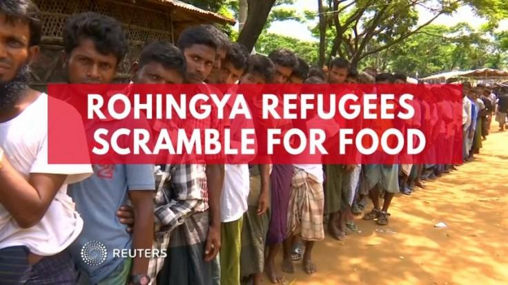 Rohingya refugees in Bangladesh scramble for food