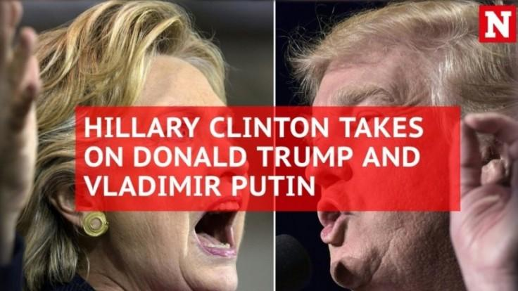 Hillary Clinton on Trump and Putin: I ran against both of them