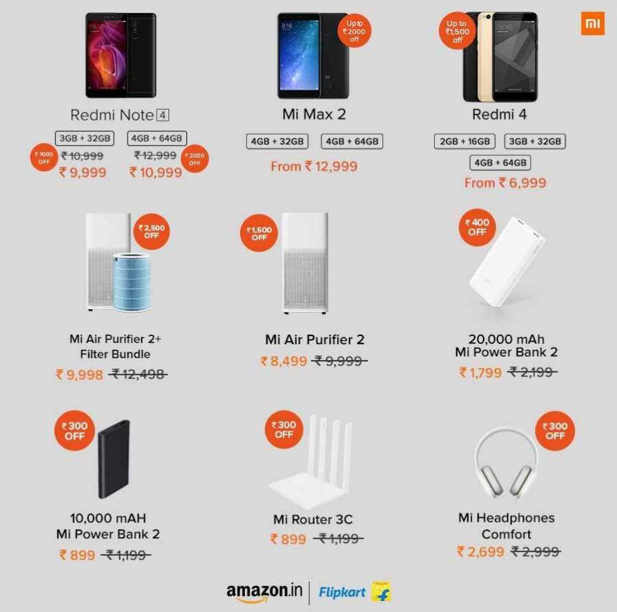 Xiaomi Diwali Offers On Redmi Note 4 Redmi 4 Mi Max 2 Mi Band And More Ibtimes India