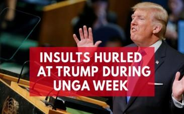 Insults hurled at Trump during United Nations General Assembly