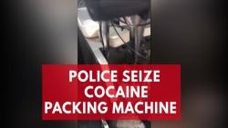 Sao Paulo police seize cocaine packing machine