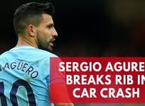 Manchester City striker Sergio Aguero breaks rib in Amsterdam car crash
