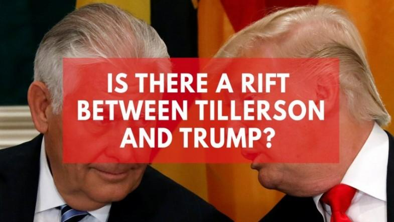 Tillerson and Trumps strained relationship