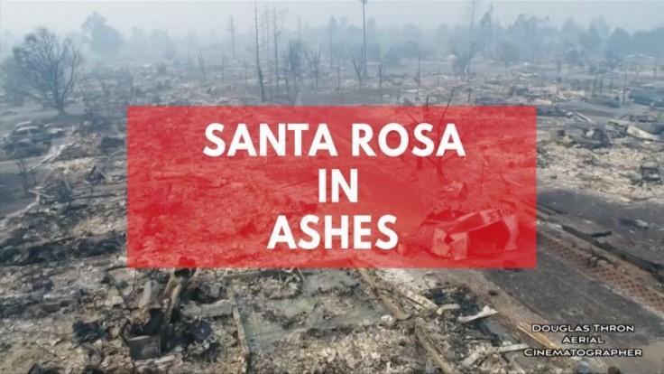 Drone footage shows fire decimated Santa Rosa