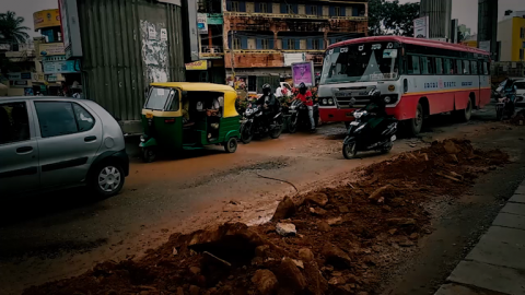 A peek into the daily grind of surviving dangerous Bangalore roads