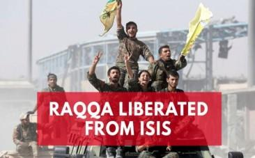 US-backed Syrian Democratic Forces celebrate eradicating Isis from Raqqa