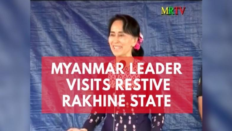 Myanmars Aung San Suu Kyi makes first visit to violence-hit Rakhine state