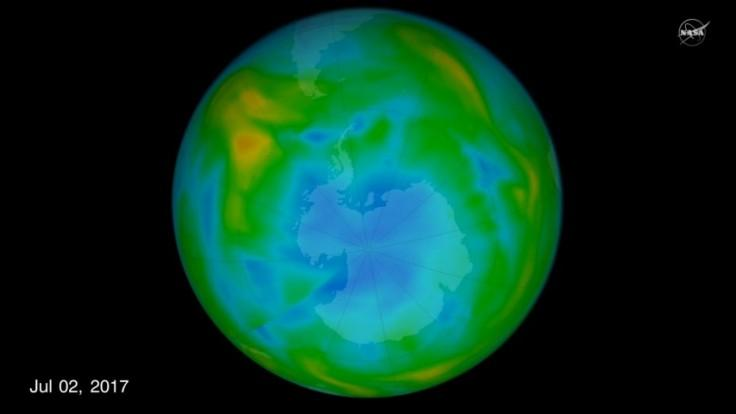 Nasa finds hole over ozone at its smallest since 1988