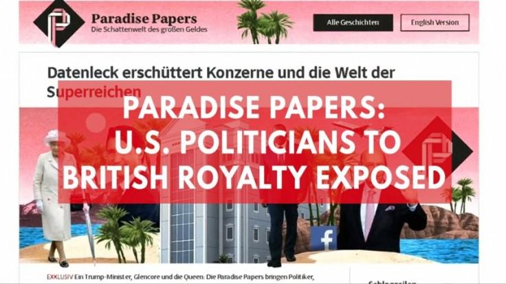 Paradise Papers: Leaked documents expose tax haven secrets of the worlds wealthy