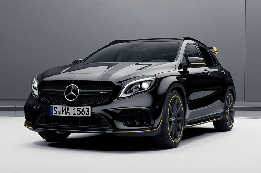 2017 mercedes amg cla 45 gla 45 launched in india with new aero edition ibtimes india. Black Bedroom Furniture Sets. Home Design Ideas